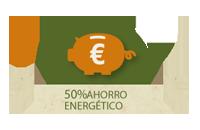 50% Ahorro energético