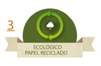 Ecológico. Papel reciclado